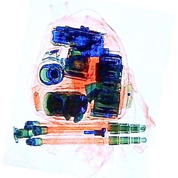 Camera Bag - X-rayed in Paris